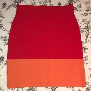 BCBGMAXAZRIA Color Block Mini Skirt